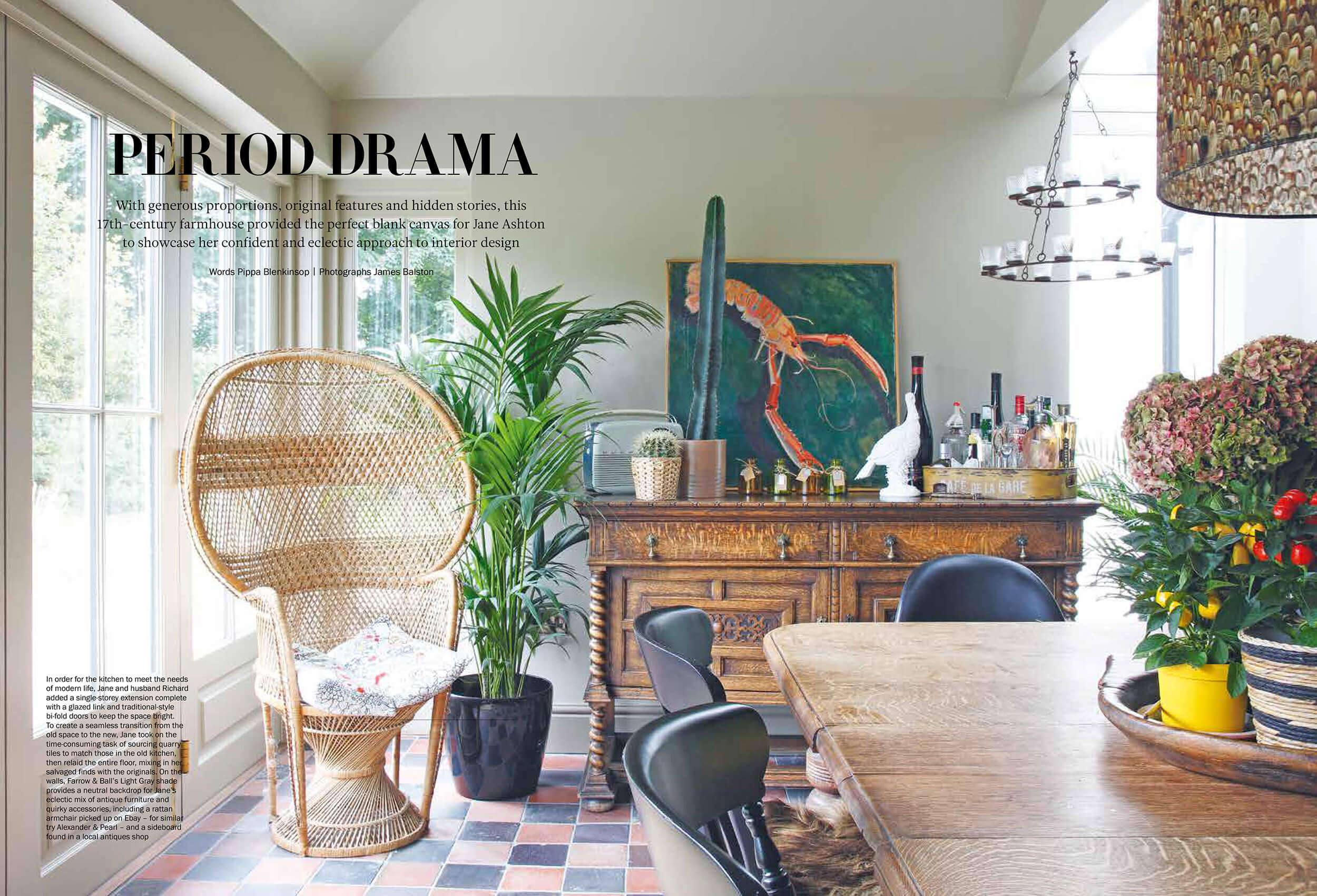 Farmhouse interior Period living Magazine february 2017
