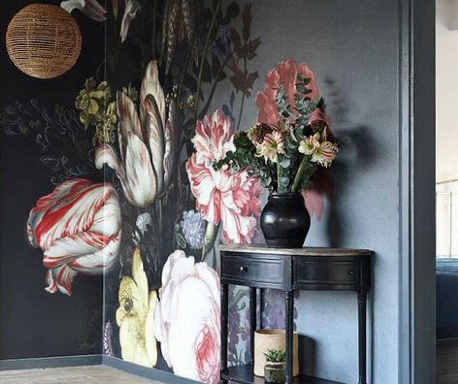 Interior Design Floral Mural