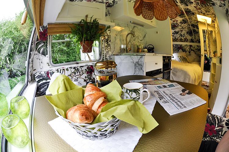 Brigitte Bardot inspired vintage caravan
