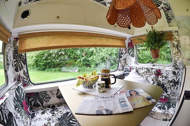 renovated vintage caravan