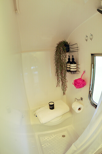 Caravan shower room