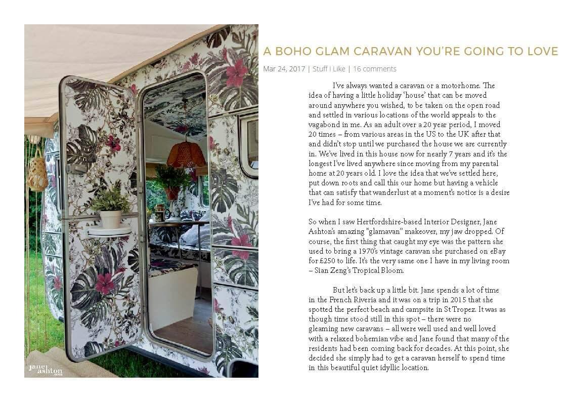 Swoonworthy Blog feature on Brigitte the Vintage Caravan makeover