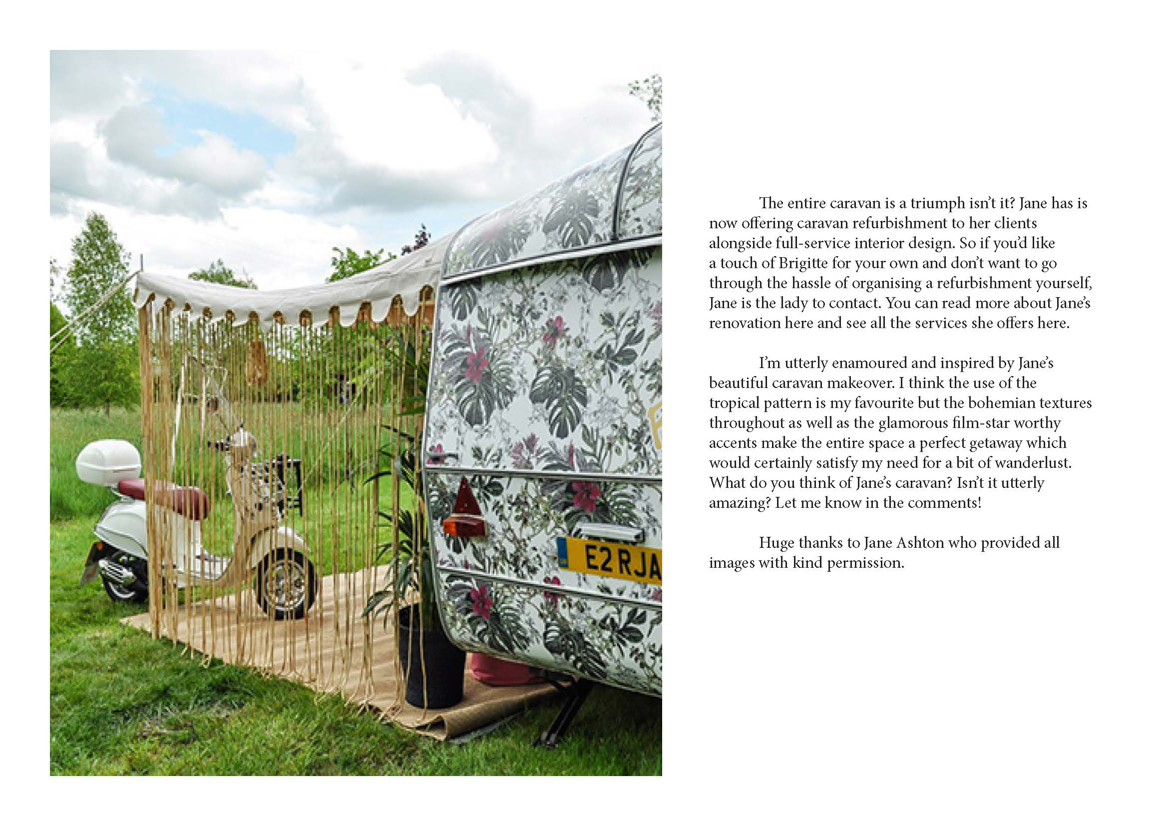 Swoonworthy Blog feature on Brigitte the Vintage Caravan makeover