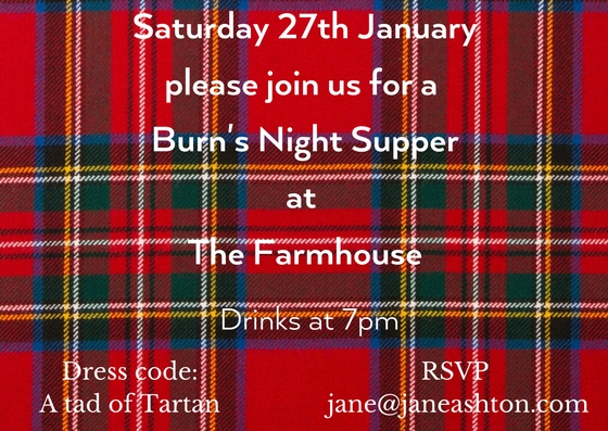 Burns Night supper invitation