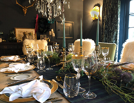 Burns night supper table decor