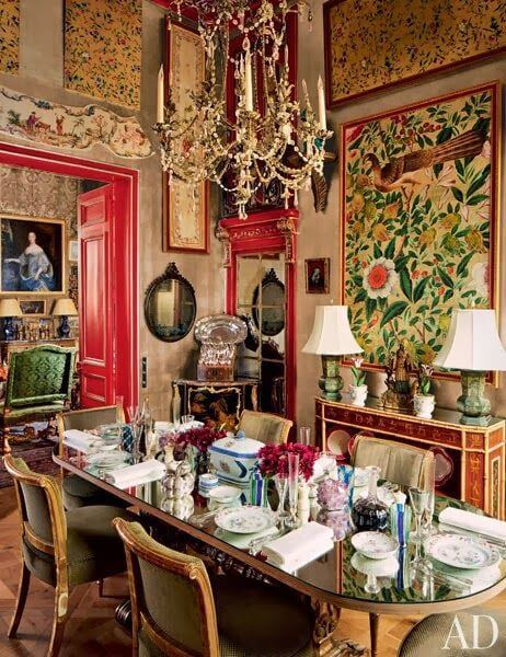 Chinese Red room