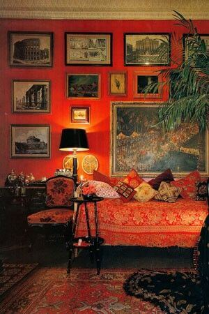 Red Parisian room