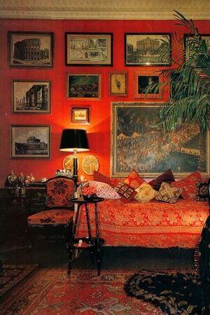 Red Parisian room