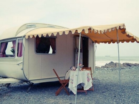 Bespoke awning for Brigitte the glamavan