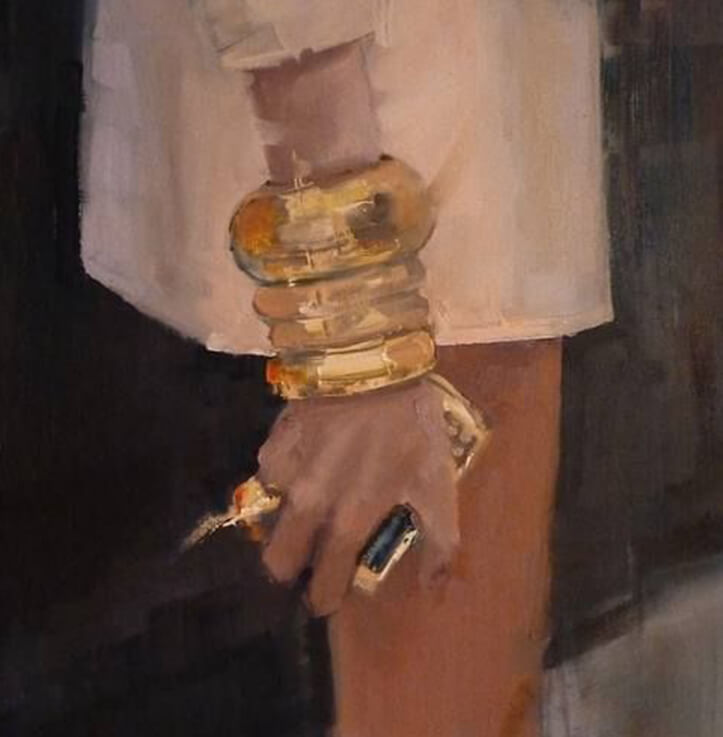 Painting by Fanny Nushka Moreaux