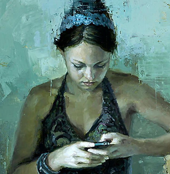 Still moments in Teal by Jeremy Mann