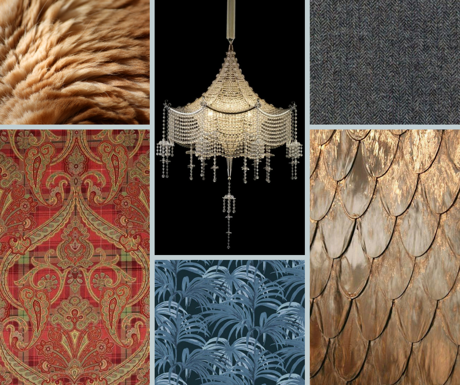A peaky blinders inspired mood board textures
