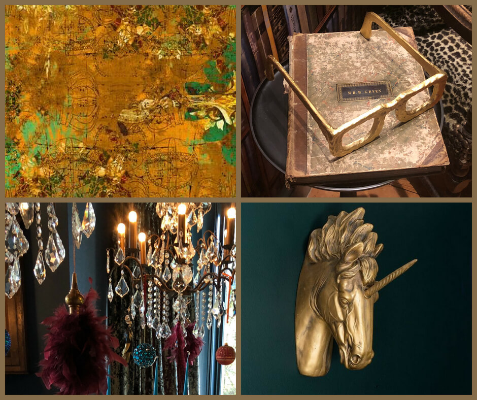 Wit & Whimsy mood board, the textures
