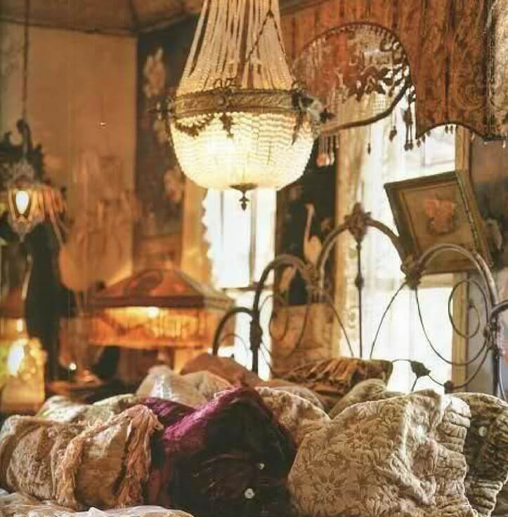 romantic boho lighting