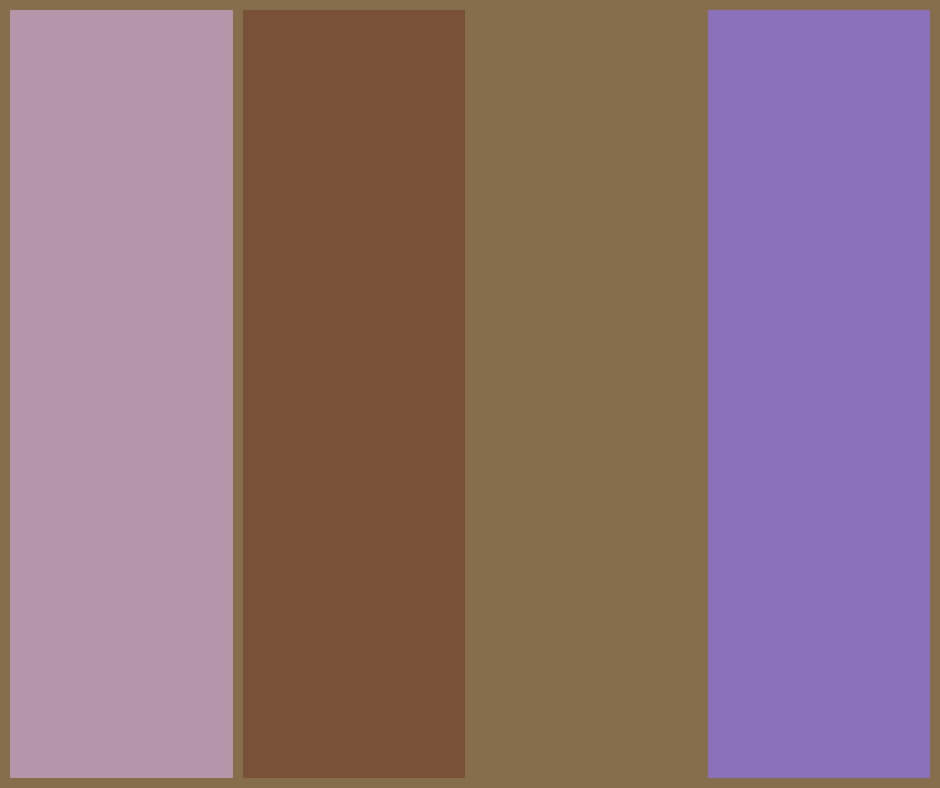 Lavender and chocolate moodboard colours