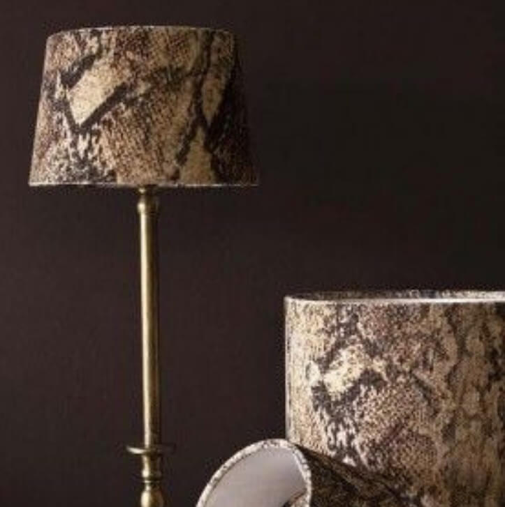 Snake skin lampshades by RSG