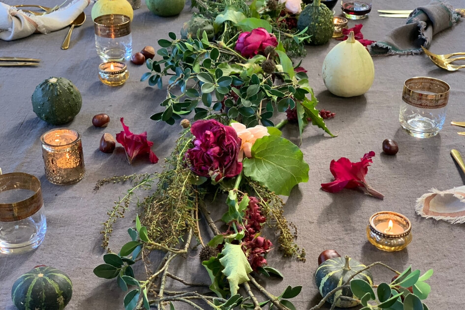 How to create an autumn table centre piece