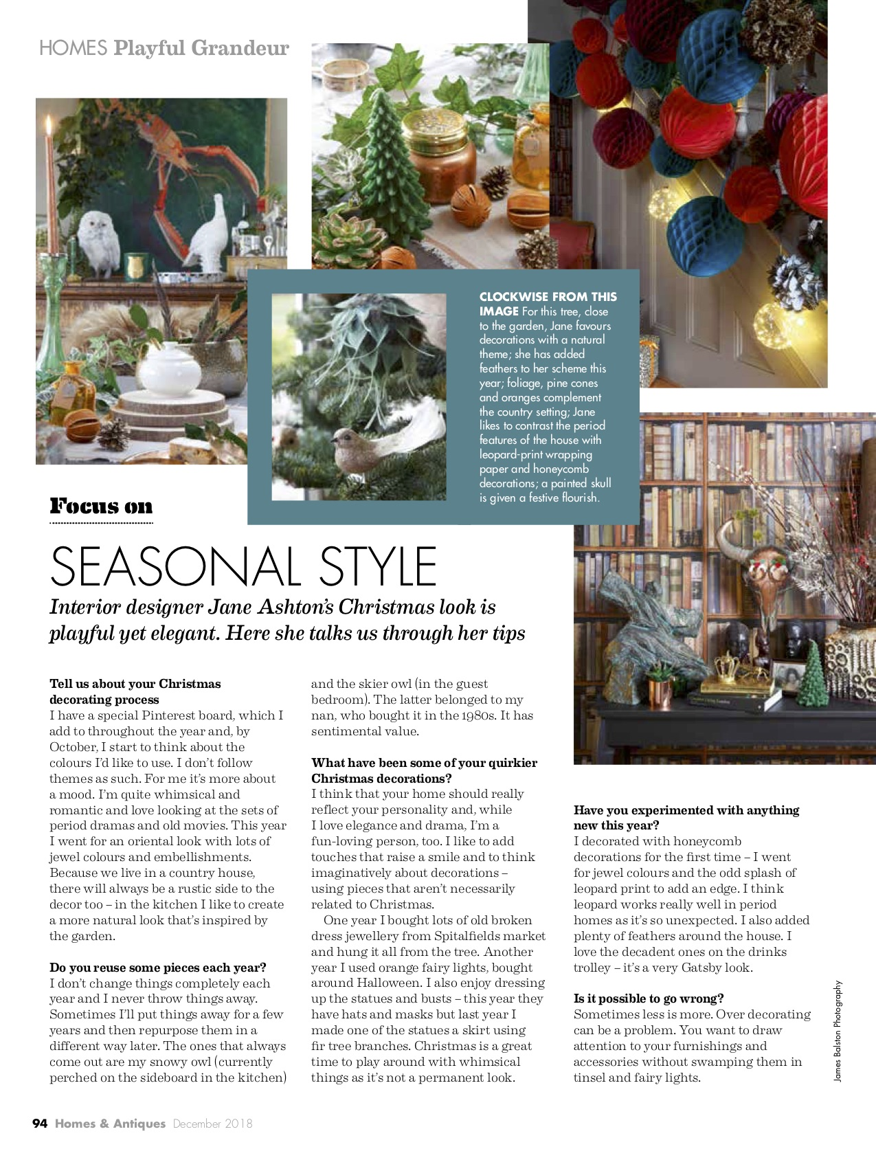Homes & Antiques Christmas